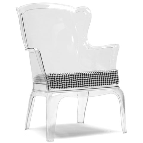 Tasha Clear Polycarbonate Modern Accent Chair