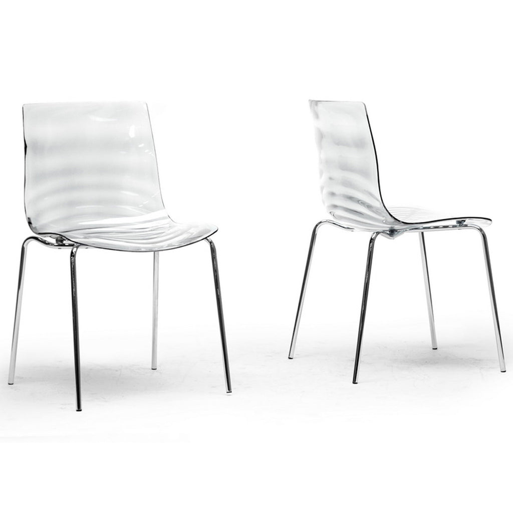 Marisse Plastic Modern Dining Chairs, Set of 2