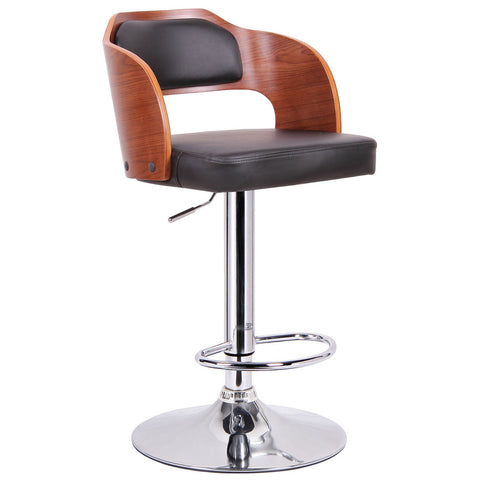 Sitka Walnut and Black Modern Bar Stool