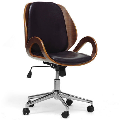 Watson Walnut and Black Modern Office Chair
