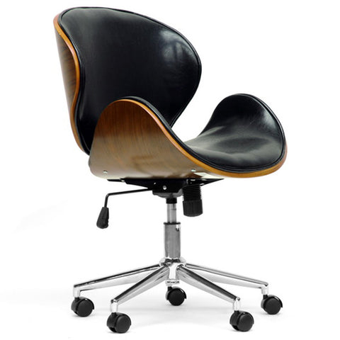 Bruce Walnut and Black Modern Office Chair