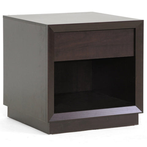 Girvin Brown Modern Accent Table and Nightstand