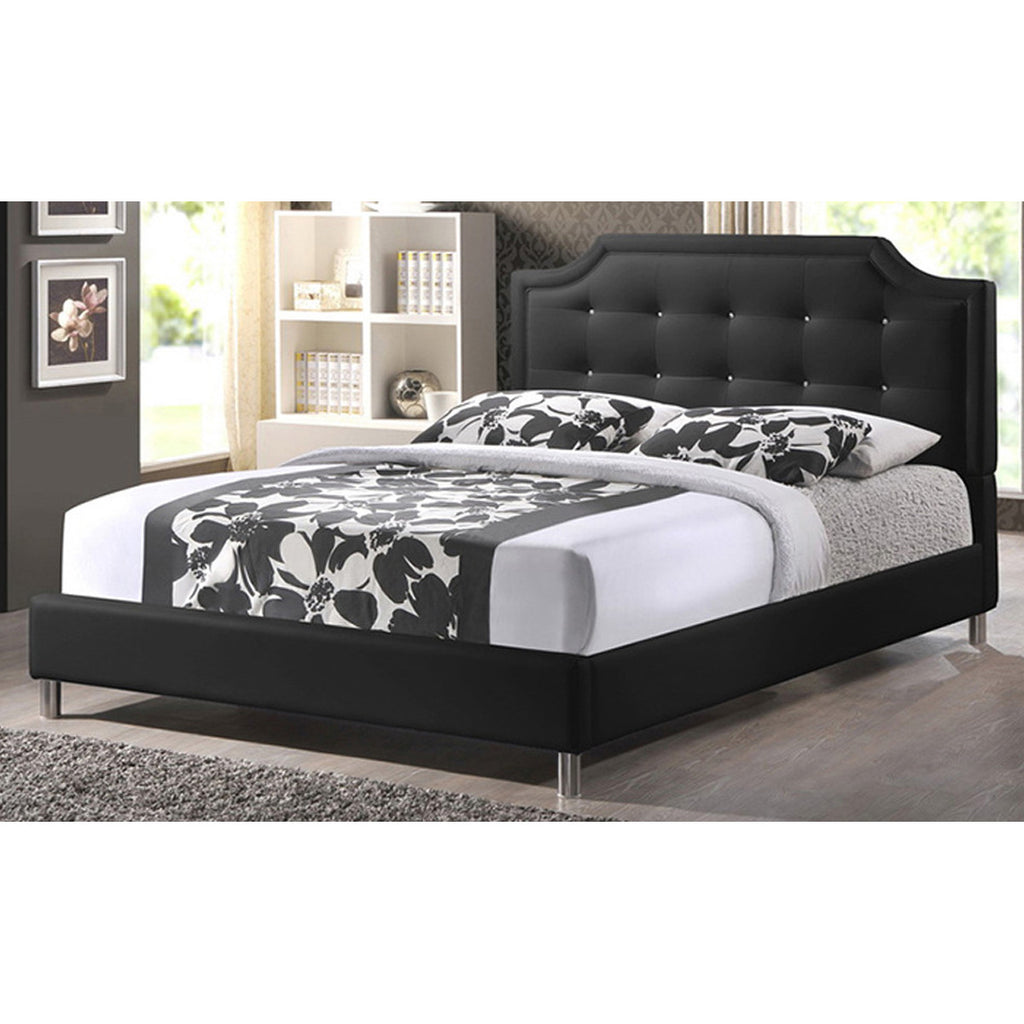 Carlotta Modern Bed with Upholstered Headboard, King Size