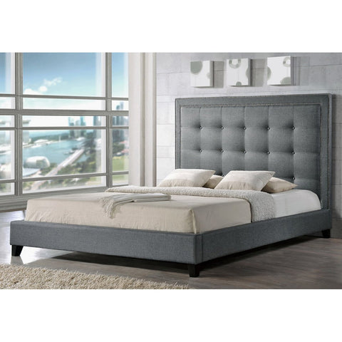 Baxton Studio Hirst Platform Bed with Bench
