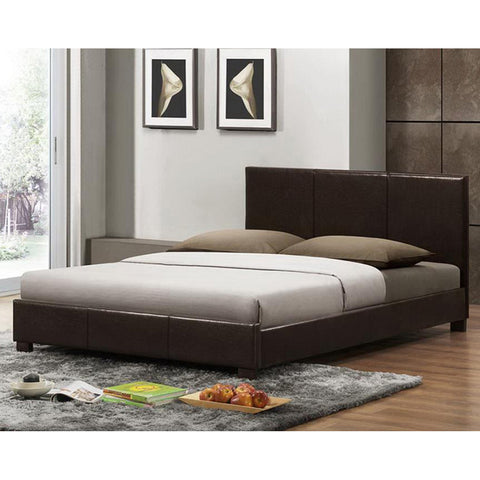 Pless Dark Brown Modern Bed