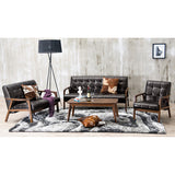 Baxton Studio Mid, Century Masterpieces 3PC Sofa Set, Brown