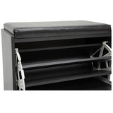 Baxton Studio Espresso Shoe, Rack Bench