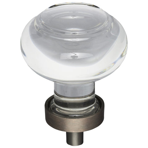 "1-7/16"" Diameter Glass Button Cabinet Knob"