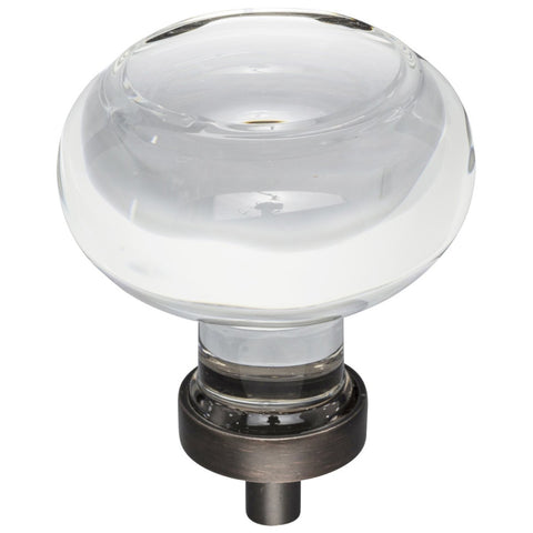 "1-3/4"" Diameter Glass Button Cabinet Knob"