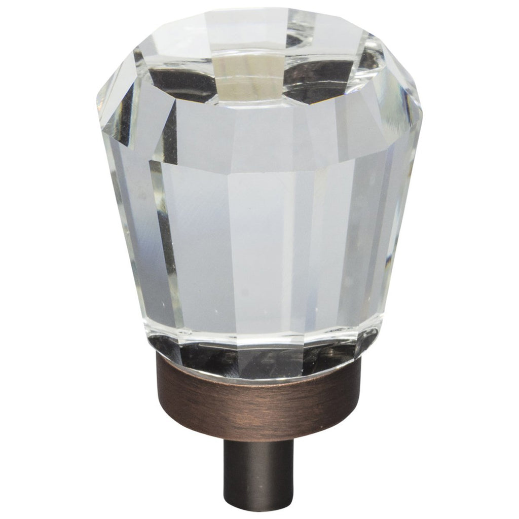 "1"" Diameter Glass Tapered Cabinet Knob"