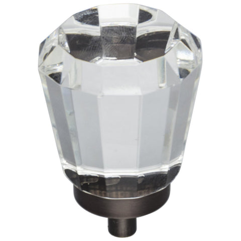 "1-1/4"" Diameter Glass Tapered Cabinet Knob"