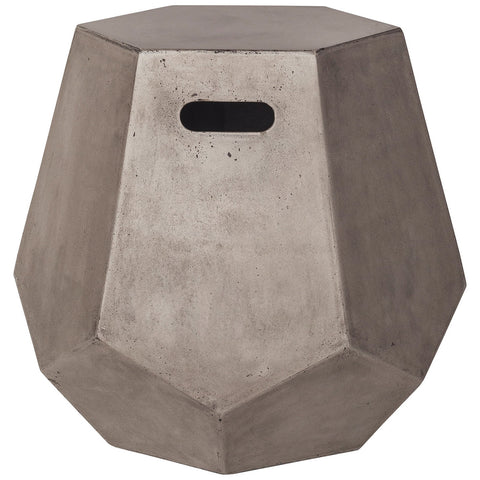 Delana Side Table in Waxed Concrete