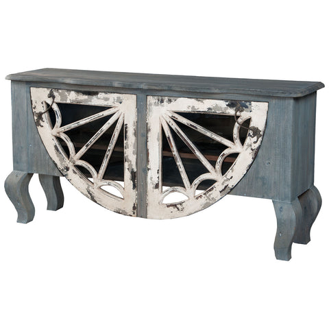 Artifacts Italian Sideboard in Vintage Bouleu Blanc and Weathered Gray