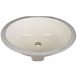 "15"" Oval Undermount Porcelain Bowl"