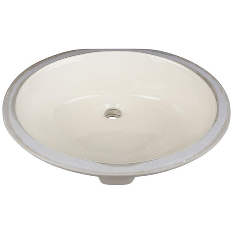 "17"" Oval Undermount Porcelain Bowl"