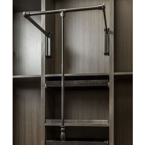 "Soft-close Wardrobe Lift 25-1/2"" Expanding to 35"""