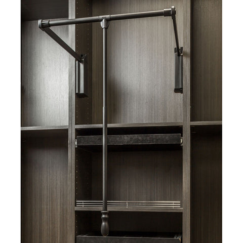 "Soft-close Wardrobe Lift 33"" Expanding to 48"""