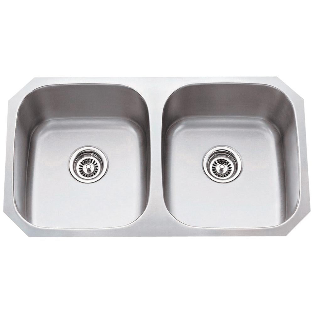 18 Gauge Stainless Steel Kitchen Sink with Two Equal Bowls