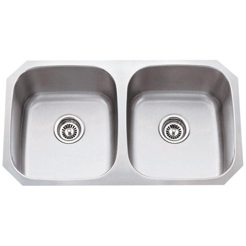 16 Gauge 50/50 Stainless Steel Undermount Sink Equal Bowls