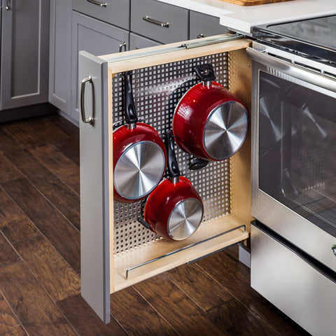 Base Cabinet Filler with Pegboard Organizer