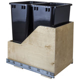 Preassembled 50-Quart Double Pullout Waste Container System