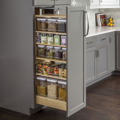 "Wood Pantry Cabinet Pullout 5-1/2"" x 22-1/4"""