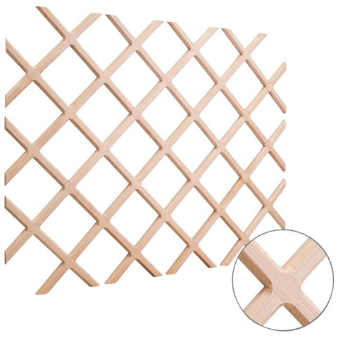 "36"" x 48"" Wine Lattice Rack with Bevel Hard Maple"