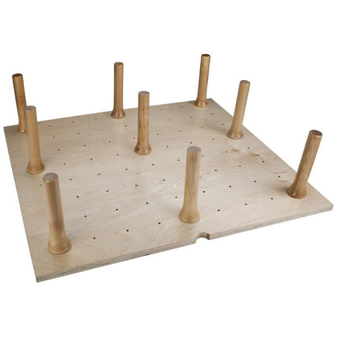 "39-1/4"" W x 21-1/4"" L x 6-5/8"" H Peg Board with 16 Pegs"