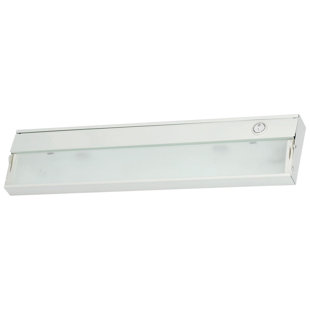 ZeeLite 2-Lamp Cabinet Light in White and Diffused Glass
