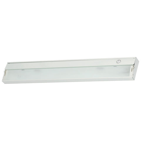 ZeeLite 3-Lamp Cabinet Light in White and Diffused Glass
