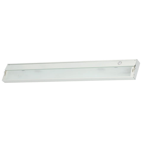 ZeeLite 4-Lamp Cabinet Light in White and Diffused Glass