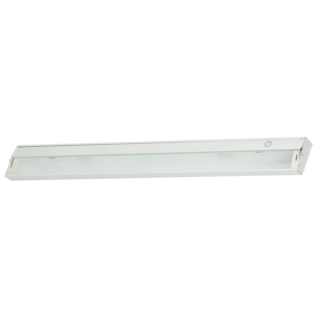 ZeeLite 6-Lamp Cabinet Light in White and Diffused Glass