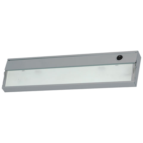 ZeeLite 2-Lamp Cabinet Light in Stainless Steel and Diffused Glass