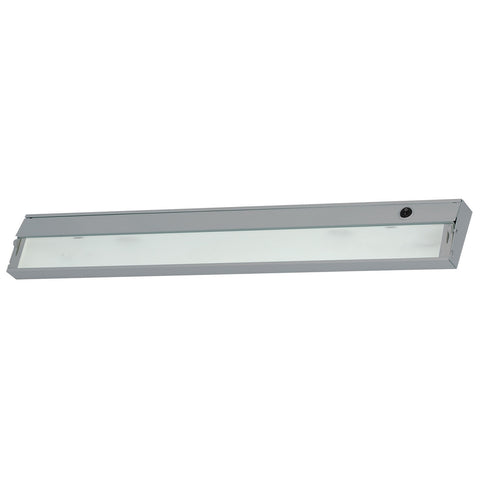 ZeeLite 4-Lamp Cabinet Light in Stainless Steel and Diffused Glass