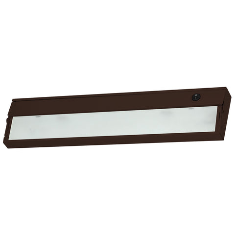 ZeeLite 2-Lamp Cabinet Light in Bronze and Diffused Glass