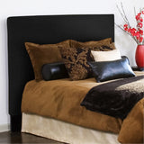 Black Faux Leather Twin Slipcovered Headboard