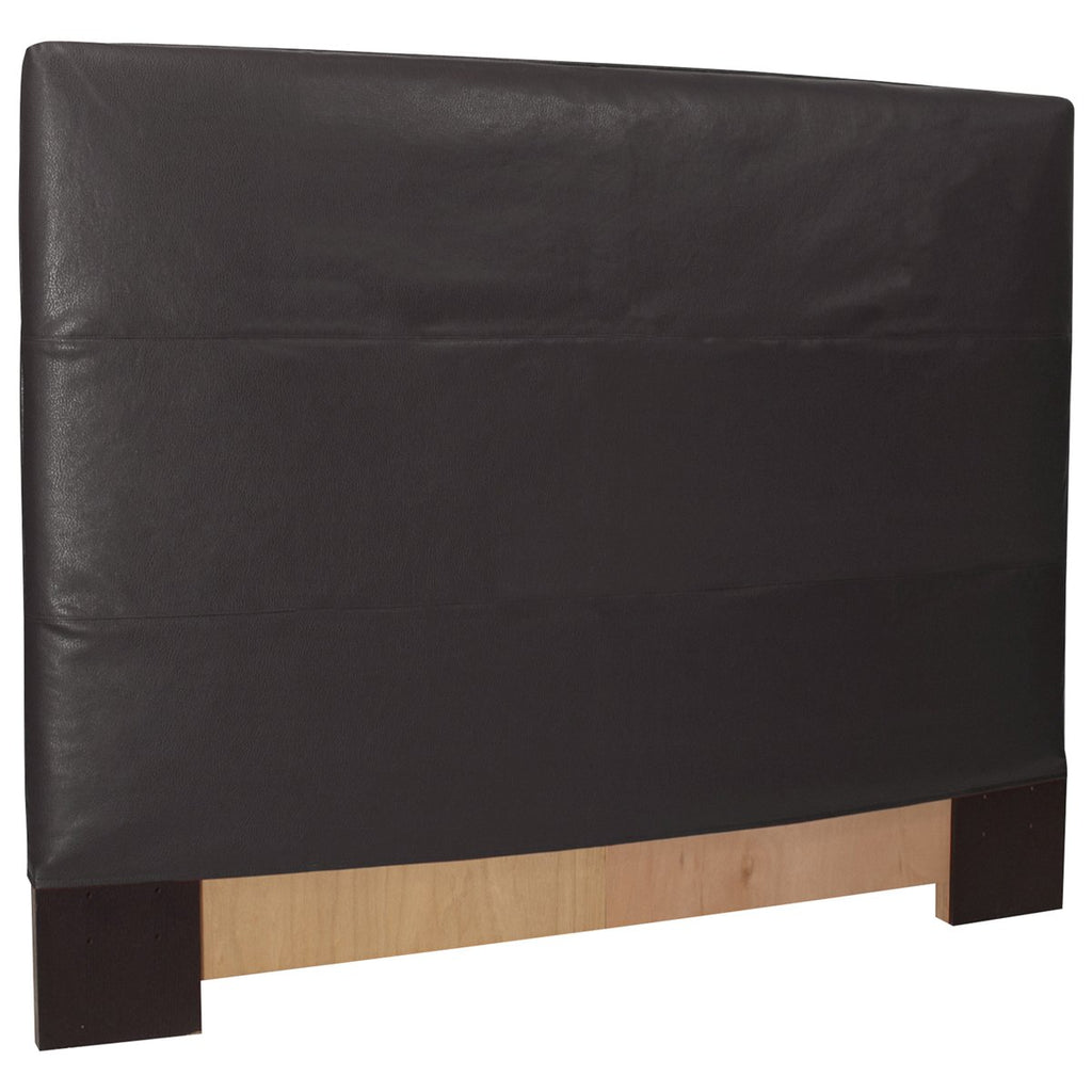 Black Faux Leather Cover FQ Slipcovered Headboard