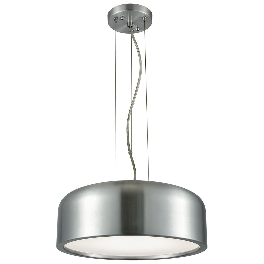 Kore 1-Light LED Pendant in Aluminum with Acrylic Diffuser