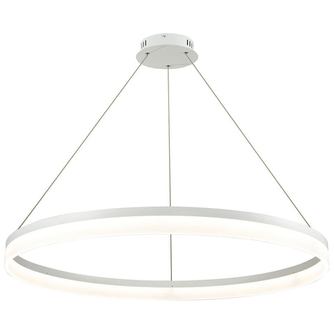 Cycloid 1-Light LED Pendant in Matte White