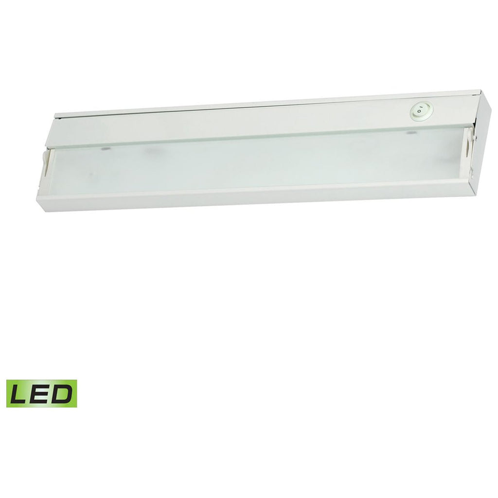 ZeeLite 2-Lamp LED Cabinet Light in White with Diffused Glass