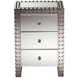 Azura Hollywood Regency Glamour Style Nightstand Bedside Table