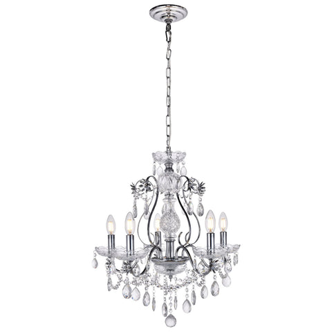 Voltaire 5-Light 22-Inch Chrome Chandelier