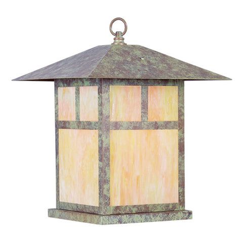 Montclair Mission 1-Light Outdoor Column Mount in Verde Patina