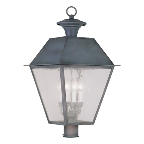Mansfield 4-Light Outdoor Post Lantern in Charcoal