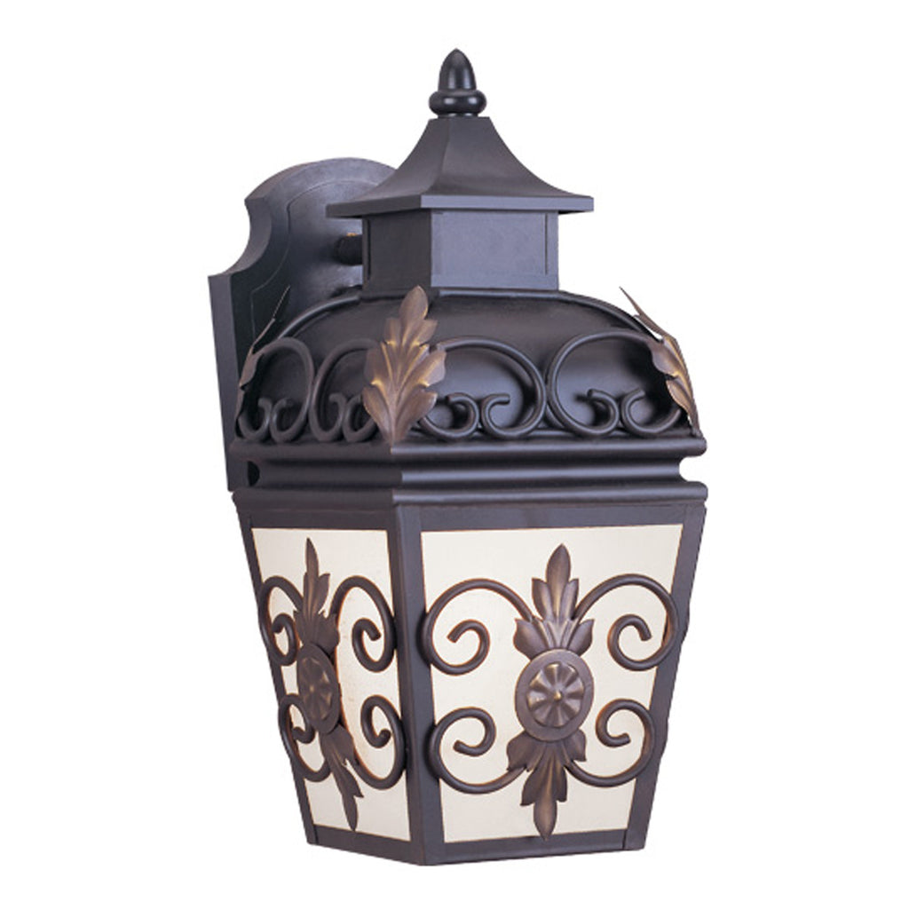 Berkshire 1-Light Outdoor Wall Lantern in Bronze