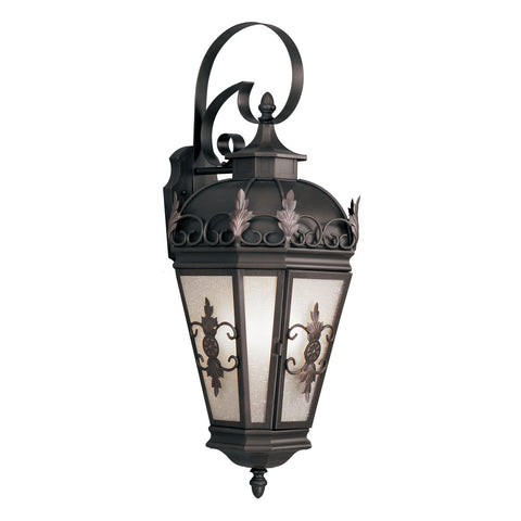 Berkshire 3-Light Bronze Outdoor Wall Lantern