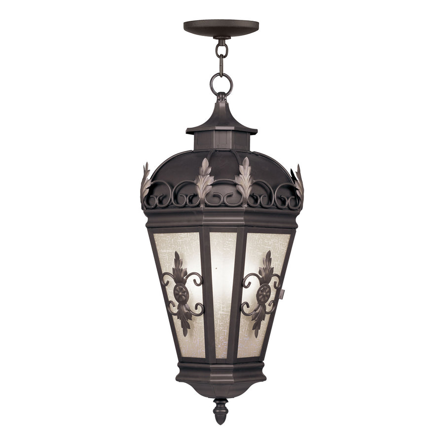 Berkshire 3-Light Bronze Outdoor Hanging Lantern