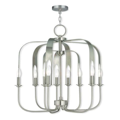 Addison 6+3-Light Brushed Nickel Chandelier