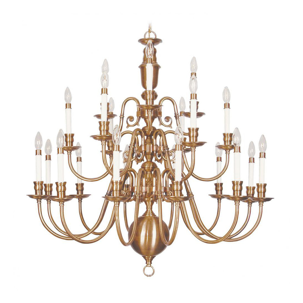 Beacon Hill 21-Light Chandelier in Flemish Brass