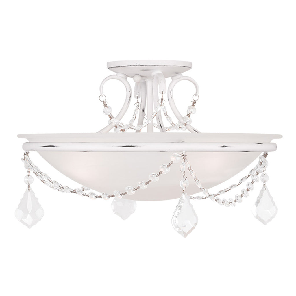 Chesterfield/Pennington 3-Light Antique White Ceiling Mount